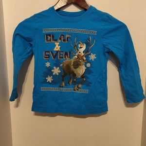 Disney's Frozen Olaf and Sven Long Sleeve Shirt